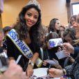 Miss France 2014, Flora Coquerel a fait un retour triomphal à Morancez, son village, le 18 décembre 2013.