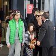 Hugh Jackman et sa famille à Sydney, le 18 décembre 2013.