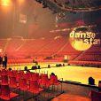 Alizée dévoile la scène de la tournée Danse avec les stars à quelques heures de l'ouverture des portes, le 19 décembre 2013 à Paris-Bercy.