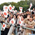 La foule venue nombreuse pour célébrer le 80e anniversaire de l'empereur, à Tokyo le 23 décembre 2013.
