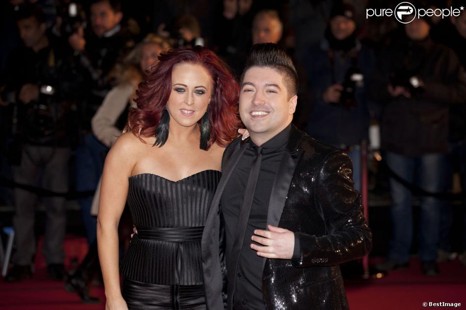 Chris Marques et sa compagne Jaclyn Spencer aux 15e NRJ Music Awards à Cannes, le 14 décembre 2013.