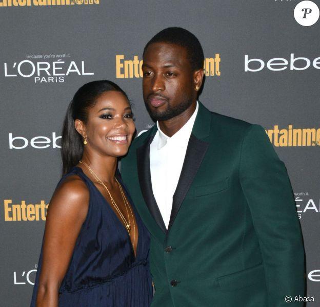Gabrielle Union et Dwayne Wade lors de la soirée Entertainment Weekly Pre-Emmy à Los Angeles, le 21 septembre 2013