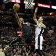 Dwayne Wade lors des finales NBA face aux Spurs de San Antonio à l'AT&T Center de San Antonio, le 16 juin 2013
