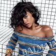 Rihanna, star de la campagne publicitaire printemps-été 2014 de Balmain. Photo par Inez et Vinoodh.