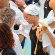 Laure Manaudou à la fin du 100m