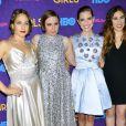 """Jemima Kirke, Lena Dunham, Allison Williams, Zosia Mamet à l'avant-première de la 3e saison de la série """"Girls"""" au Lincoln Center à New York, le 6 janvier 2014."""