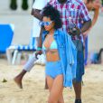 Rihanna à la Barbade, le 26 décembre 2013.