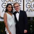 Kerry Washington et Christoph Waltz lors de la 71e cérémonie des Golden Globe Awards à Beverly Hills, le 12 janvier 2014.