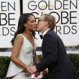 Kerry Washington enceinte et Christoph Waltz - 71eme ceremonie des Golden Globe Awards a Beverly Hills le 12 janvier 2013.12/01/2014 - Beverly Hills