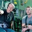 James Cameron et Sam Worthington sur le tournage d'Avatar.