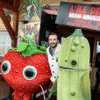 Cyril Lignac au photocall du film L'Île des Miam-nimaux : Tempête de boulettes géantes 2, présenté au 17e Festival International du Film de Comedie de l'Alpe d'Huez, le 17 janvier 2014.