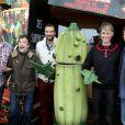 Kris Pearn, Jonathan Lambert, Cyril Lignac, Pauline Lefèvre et Cody Cameron au photocall du film L'Île des Miam-nimaux : Tempête de boulettes géantes 2, présenté au 17e Festival International du Film de Comedie de l'Alpe d'Huez, le 17 janvier 2014.