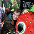 Jonathan Lambert au photocall du film L'Île des Miam-nimaux : Tempête de boulettes géantes 2, présenté au 17e Festival International du Film de Comedie de l'Alpe d'Huez, le 17 janvier 2014.
