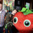 Kris Pearn, Jonathan Lambert, et Cyril Lignac au photocall du film L'Île des Miam-nimaux : Tempête de boulettes géantes 2, présenté au 17e Festival International du Film de Comedie de l'Alpe d'Huez, le 17 janvier 2014.