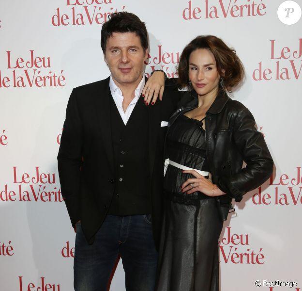 Vanessa Demouy et son mari Philippe Lellouche lors de l'avant-première du Jeu de la vérité au Gaumont Opéra Capucines à Paris le 20 janvier 2014