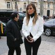 Kim Kardashian se rend au Palais Galliera avec Azzedine Alaïa et Afef Jnifen, pour visiter ALAÏA, l'exposition consacrée au créateur tunisien. Paris, le 21 janvier 2014.