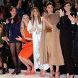 Sofia Essaïdi, Gaia Weiss, Kim Kardashian, Blanca Suarez et Paz Vega assistent au défilé haute couture Stéphane Rolland printemps-été 2014 au Théâtre National de Chaillot. Paris, le 21 janvier 2014.