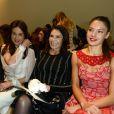 Alexandra Golovanoff, Elsa Zylberstein, Mouna Ayoub et Natasha Andrews assistent au défilé Zuhair Murad haute couture printemps-été 2014 aux Palais des Beaux Arts. Paris, le 23 janvier 2014.