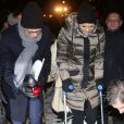 La princesse Victoria de Suède et son mari le prince Daniel prenaient part le 27 janvier 2014 aux commémorations annuelles de l'Holocauste, place Raoul Wallenberg à Stockholm.