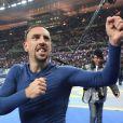 Franck Ribéry après la qualification des Bleus pour le mondial au Brésil, au stade de France à Saint-Denis le 19 novembre 2013