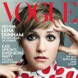 Lena Dunham en couverture du magazine Vogue. Février 2014.