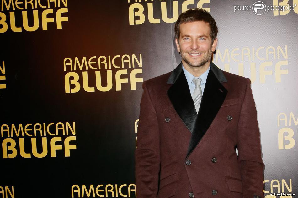 """Bradley Cooper - Avant-première du film """"American Bluff"""" à l'UGC Normandie a Paris, le 3 février 2014."""