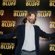 Frédéric Beigbeder lors de la première du film American Bluff à l'UGC Normandie, Paris, le 3 février 2014.