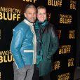 Paul Belmondo et sa femme Luana lors de la première du film American Bluff à l'UGC Normandie, Paris, le 3 février 2014.
