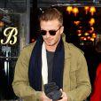 David Beckham dans l'East Village à New York le 2 février 2014