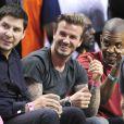 David Beckham lors du match entre le Heat de Miami et les Pacers de l'Indiana à Miami, le 30 mai 2013