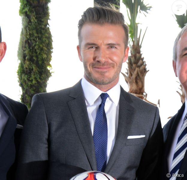 David Beckham annonce la création d'une équipe de foot à Miami, le 5 février 2014.