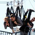 Shailene Woodley et Theo James font la promotion du film Divergente à Los Angeles, le 3 février 2014.