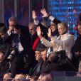 Charlene et Albert de Monaco - Cérémonie d'ouverture des Jeux Olympiques de Stochi, le 7 février 2014.
