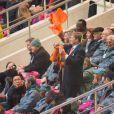 Le roi Willem-Alexander des Pays-Bas et la reine Maxima très enthousiastes - Cérémonie d'ouverture des Jeux Olympiques de Stochi, le 7 février 2014.