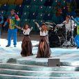 Le duo musical t.A.T.u - Cérémonie d'ouverture des Jeux Olympiques de Stochi, le 7 février 2014.