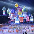 - Cérémonie d'ouverture des XXIIème jeux olympiques d'hiver à Sotchi en Russie le 7 février 2014.  ITAR-TASS: SOCHI, RUSSIA. FEBRUARY 7, 2014. Inflatables form St. Basil's Cathedral during the opening ceremony of the Sochi 2014 Olympic Games at the Fisht Olympic Stadium. (Photo ITAR-TASS/ Stanislav Krasilnikov)07/02/2014 - Sochi