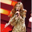 Céline Dion sur la scène du Colosseum du Caesars Palace à Las Vegas, lors de son retour pour une seconde résidence permanente, le 15 mars 2011.