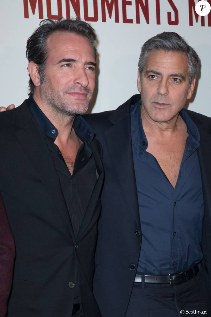 Jean dujardin et george clooney premi re du film for Jean dujardin famille