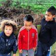 Marley Jackson (3 ans), Prince Kobe (5 ans) et Cassius (7 ans), les fils de Djibril Cissé.