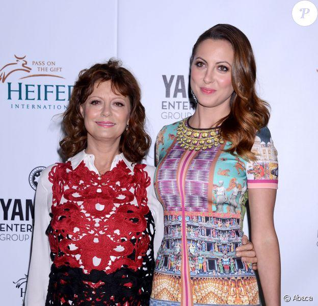Susan Sarandon et Eva Amurri Martino à Beverly Hills, Los Angeles, le 19 septembre 2013.
