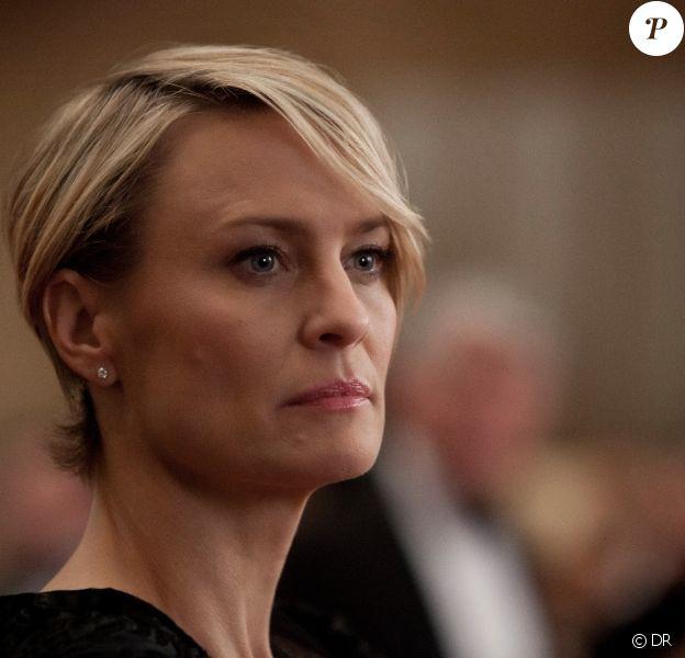 Robin Wright dans la série House of Cards où elle joue Claire Underwood.