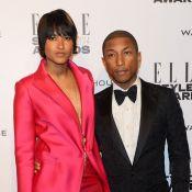 Pharrell Williams : À l'honneur et sans chapeau, sous les yeux de sa femme
