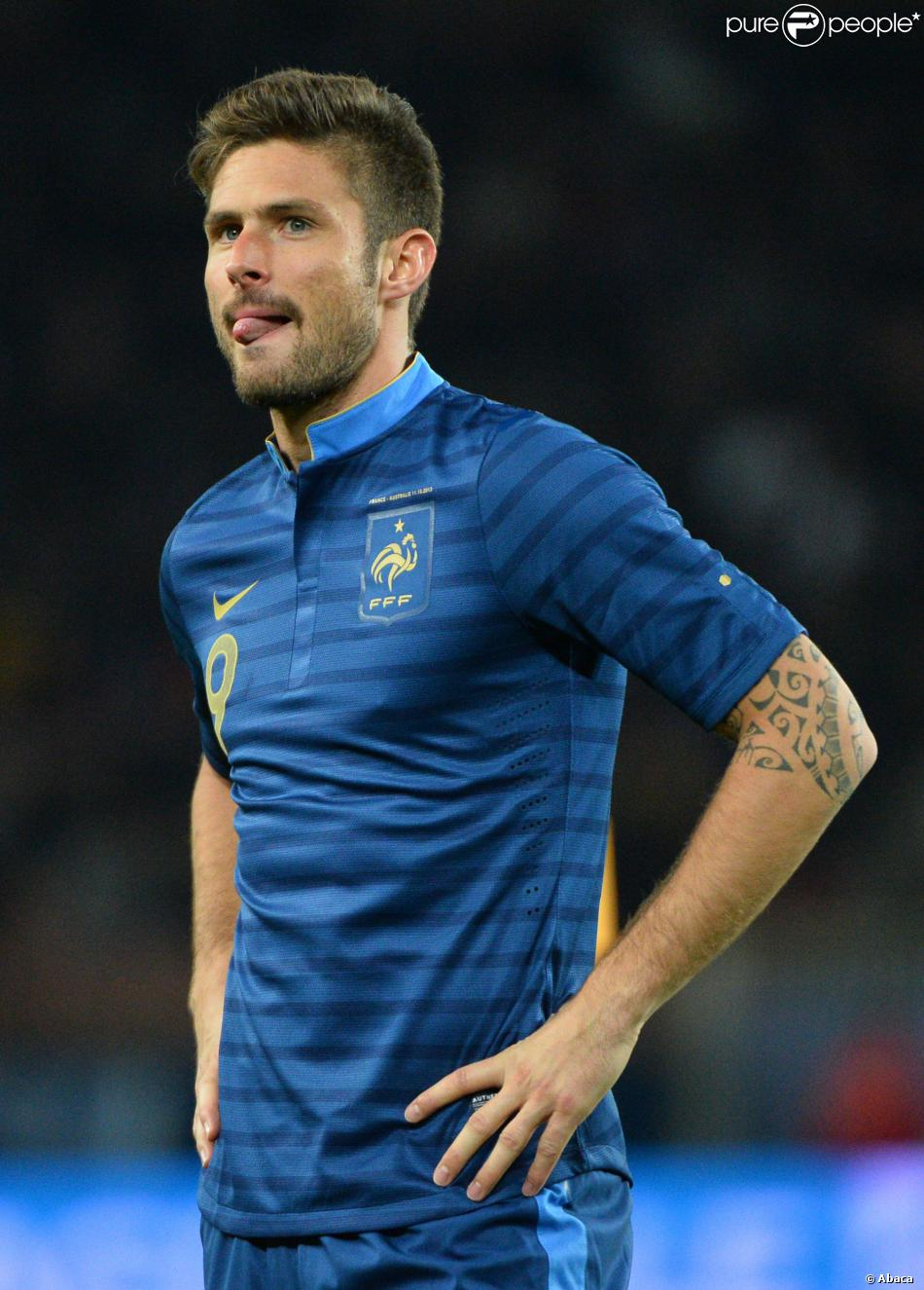 Olivet France  city pictures gallery : Olivier Giroud lors du match France Australie au Parc des Princes à ...