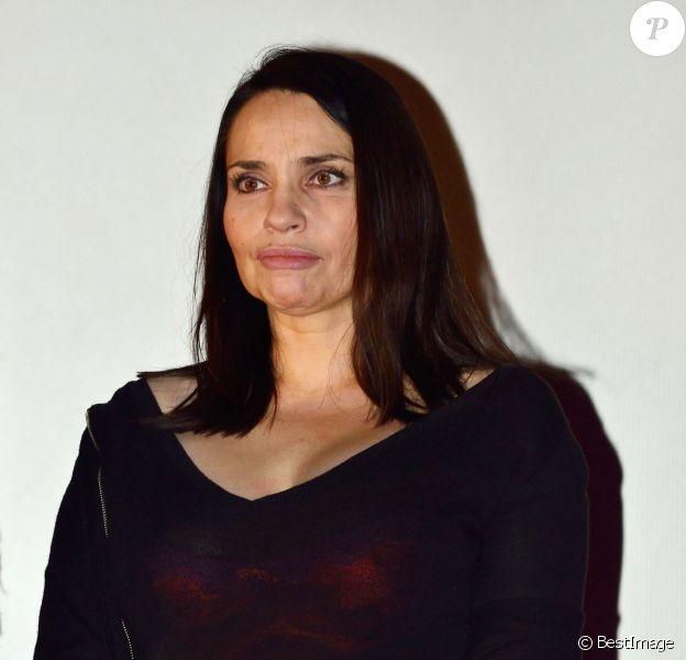 """Béatrice Dalle lors de la première du film """"Rosenn"""" lors de la 30e édition du festival International du film d'amour à Mons en Belgique le 17 février 2014"""