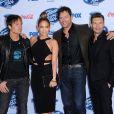 Keith Urban, Jennifer Lopez, Harry Connick Jr. et Ryan Seacrest à la soirée pour les 13 candidats d'American Idol à West Hollywood, Los Angeles, le 20 février 2014.