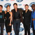 Keith Urban, Jennifer Lopez, Harry Connick Jr., Ryan Seacrest and Randy Jackson à la soirée pour les 13 candidats d'American Idol à West Hollywood, Los Angeles, le 20 février 2014.