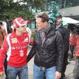 Felipe Massa et Michael Schumacher au Grand Prix d'Australie à Melbourne, le 25 mars 2011