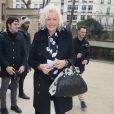 """Ellen von Unwerth au défilé de mode """"Alexis Mabille"""", collection prêt-à-porter Automne-Hiver 2014/2015, à Paris. Le 26 février 2014."""
