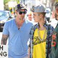 Justin Bieber avec son père Jeremy à Miami avant son arrestation, le 22 janvier 2014.