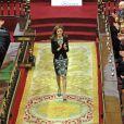 La princesse Letizia d'Espagne présidait le 28 février 2014 au Sénat à Madrid une cérémonie à l'occasion de la Journée mondiale des Maladies Rares.